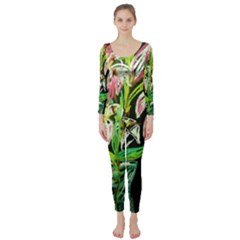 Dscf1389   Lillies In The Vase Long Sleeve Catsuit by bestdesignintheworld