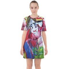 Dscf1741   Funny Clown Sixties Short Sleeve Mini Dress