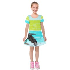 Dscf3214   Skier Kids  Short Sleeve Velvet Dress
