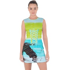 Dscf3214   Skier Lace Up Front Bodycon Dress