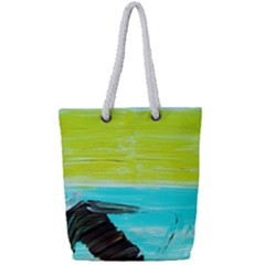 Dscf3214   Skier Full Print Rope Handle Tote (small)