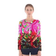 Dscf2035   Flamingo On A Chad Lake Women s Long Sleeve Tee