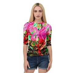 Dscf2035   Flamingo On A Chad Lake Quarter Sleeve Raglan Tee