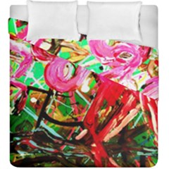 Dscf2035   Flamingo On A Chad Lake Duvet Cover Double Side (king Size)