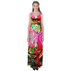 Dscf2035   Flamingo On A Chad Lake Empire Waist Maxi Dress