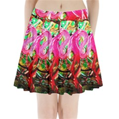 Dscf2035   Flamingo On A Chad Lake Pleated Mini Skirt