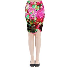 Dscf2035   Flamingo On A Chad Lake Midi Wrap Pencil Skirt