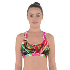 Dscf2035   Flamingo On A Chad Lake Cross Back Sports Bra