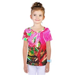 Dscf2035   Flamingo On A Chad Lake Kids  One Piece Tee