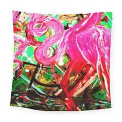 Dscf2035   Flamingo On A Chad Lake Square Tapestry (large)