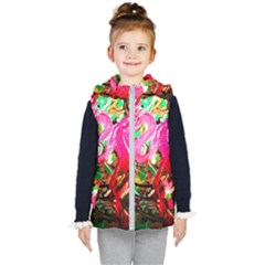 Dscf2035   Flamingo On A Chad Lake Kid s Hooded Puffer Vest
