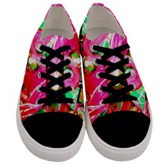 Dscf2035   Flamingo On A Chad Lake Men s Low Top Canvas Sneakers