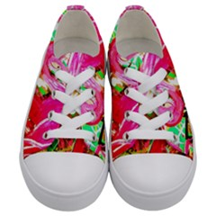 Dscf2035   Flamingo On A Chad Lake Kids  Low Top Canvas Sneakers