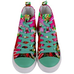 Dscf2035   Flamingo On A Chad Lake Women s Mid Top Canvas Sneakers