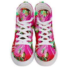 Dscf2035   Flamingo On A Chad Lake Men s Hi Top Skate Sneakers