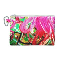 Dscf2035   Flamingo On A Chad Lake Canvas Cosmetic Bag (large)