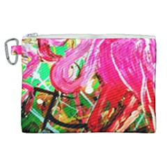 Dscf2035   Flamingo On A Chad Lake Canvas Cosmetic Bag (xl)