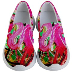 Dscf2035   Flamingo On A Chad Lake Kid s Lightweight Slip Ons