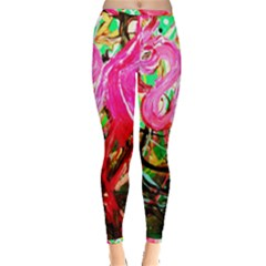 Dscf2035   Flamingo On A Chad Lake Inside Out Leggings