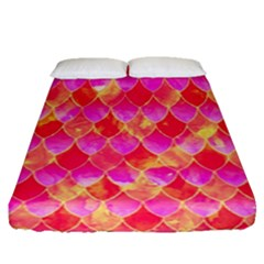 Squama Fhis Paint Flower Of Life Pattern Fitted Sheet (queen Size)