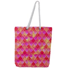 Squama Fhis Paint Flower Of Life Pattern Full Print Rope Handle Tote (large) by Cveti