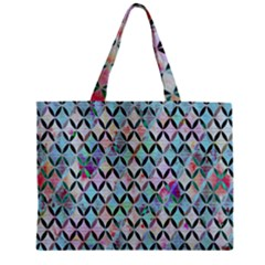 Rhomboids Flower Of Life Paint Pattern Zipper Mini Tote Bag by Cveti