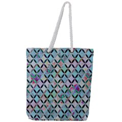 Rhomboids Flower Of Life Paint Pattern Full Print Rope Handle Tote (large) by Cveti