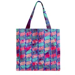 Leaves Paint Flower Of Life 01 Zipper Grocery Tote Bag by Cveti