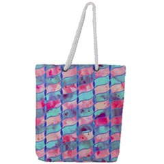 Leaves Paint Flower Of Life 01 Full Print Rope Handle Tote (large) by Cveti