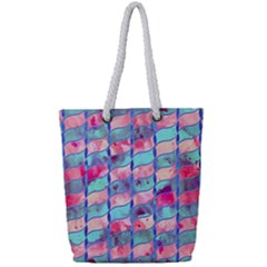 Leaves Paint Flower Of Life 01 Full Print Rope Handle Tote (small) by Cveti