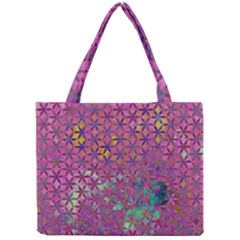 Flower Of Life Paint Purple  Mini Tote Bag by Cveti