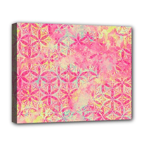 Flower Of Life Paint Pattern 08jpg Deluxe Canvas 20  X 16   by Cveti