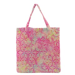 Flower Of Life Paint Pattern 08jpg Grocery Tote Bag by Cveti