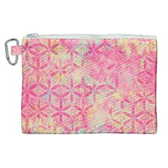 Flower Of Life Paint Pattern 08jpg Canvas Cosmetic Bag (xl) by Cveti