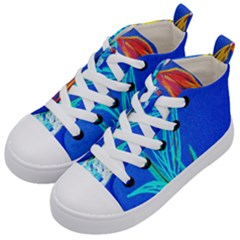 Dscf1451   Birds If Paradise In A Cristal Vase Kid s Mid Top Canvas Sneakers by bestdesignintheworld