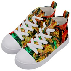 Tiger Lillis   1 Kid s Mid Top Canvas Sneakers by bestdesignintheworld