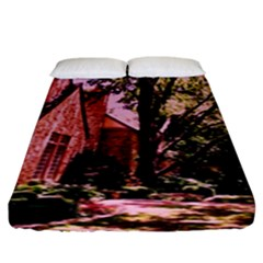 Hot Day In  Dallas 6 Fitted Sheet (king Size) by bestdesignintheworld