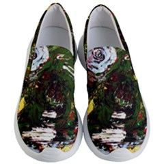 Weed Tumbler And Blue Rose Women s Lightweight Slip Ons