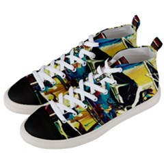 Dance Of Oil Towers 2 Men s Mid Top Canvas Sneakers by bestdesignintheworld