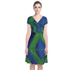 Point Of Equilibrium 5 Short Sleeve Front Wrap Dress
