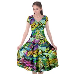 There Where Alice Took A Walk 5 Cap Sleeve Wrap Front Dress