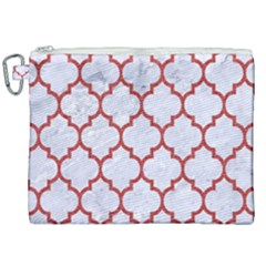 Tile1 White Marble & Red Denim (r) Canvas Cosmetic Bag (xxl) by trendistuff