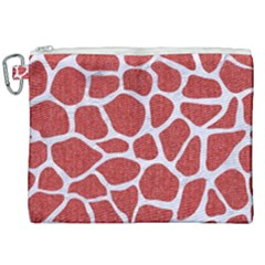 Skin1 White Marble & Red Denim (r) Canvas Cosmetic Bag (xxl) by trendistuff