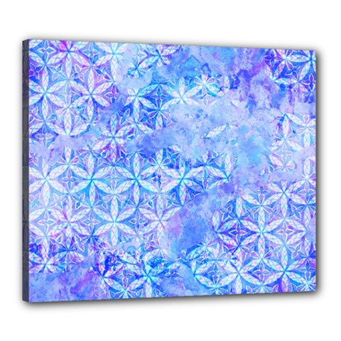 Flower Of Life Paint Pattern 8jpg Canvas 24  X 20  by Cveti