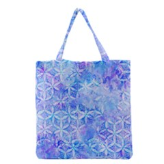 Flower Of Life Paint Pattern 8jpg Grocery Tote Bag by Cveti