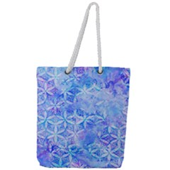 Flower Of Life Paint Pattern 8jpg Full Print Rope Handle Tote (large) by Cveti