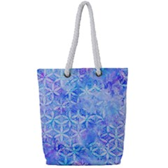Flower Of Life Paint Pattern 8jpg Full Print Rope Handle Tote (small) by Cveti