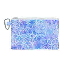 Flower Of Life Paint Pattern 8jpg Canvas Cosmetic Bag (medium) by Cveti