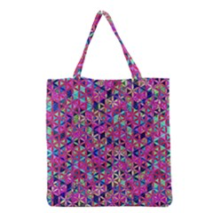 Flower Of Life Paint Pattern 10 Grocery Tote Bag by Cveti