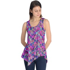 Flower Of Life Paint Pattern 10 Sleeveless Tunic